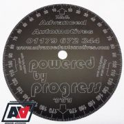 Engine Timing Degree Disc 205mm Advanced Automotive Black Anodised Aluminium